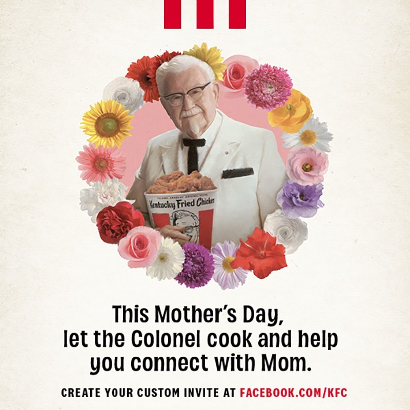 KFC US COOKS UP A VIRTUAL MOTHER'S DAY EXPERIENCE ON MESSENGER FROM FACEBOOK FOR FAMILIES UNABLE TO CELEBRATE IN PERSON