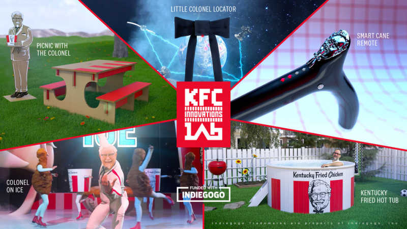 KFC U.S. LAUNCHES NEW CROWDFUNDING CAMPAIGN TO TURN THEIR CRAZIEST MARKETING IDEAS INTO A REALITY