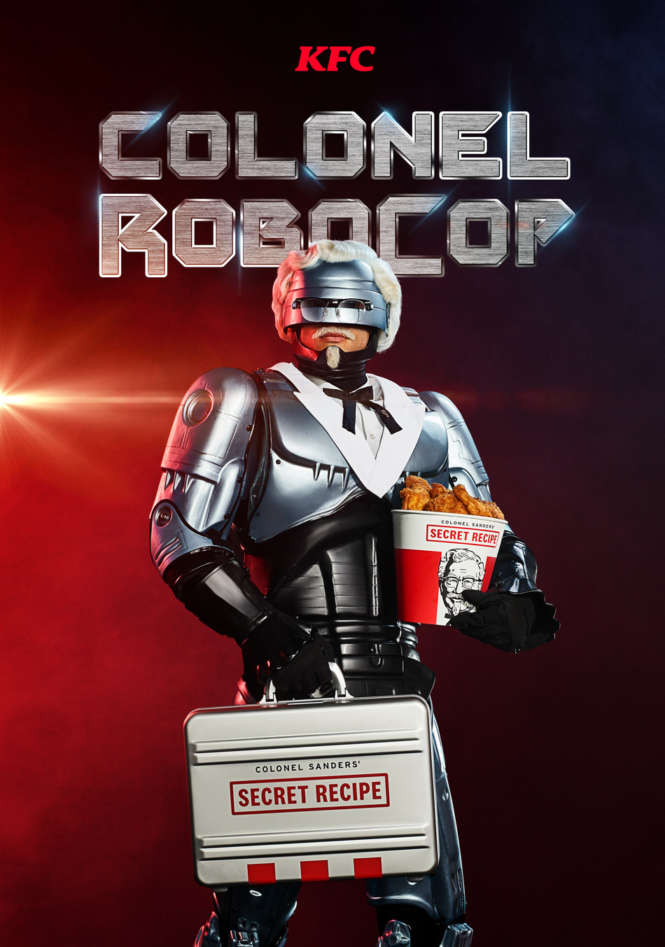 KFC U.S. COMMISSIONS  ROBOCOP AS ITS NEWEST COLONEL-AND GUARDIAN OF ITS COVETED SECRET RECIPE OF 11 HERBS & SPICES