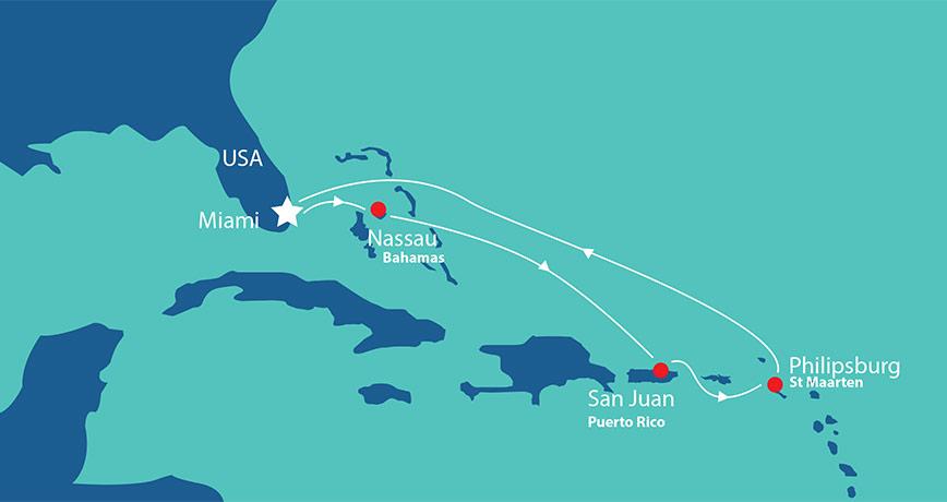 Itinerary - Eastern Caribbean 2