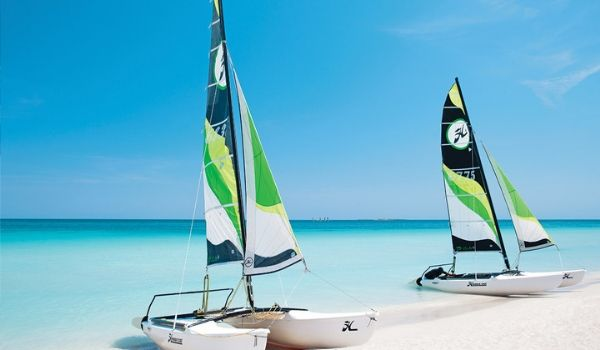 Catamarans on the shore of Varadero Beach