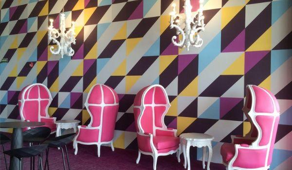 Stylish furniture inside swanky nightclub