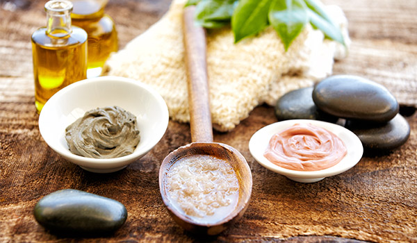 Several ingredients for tropical spa treatments