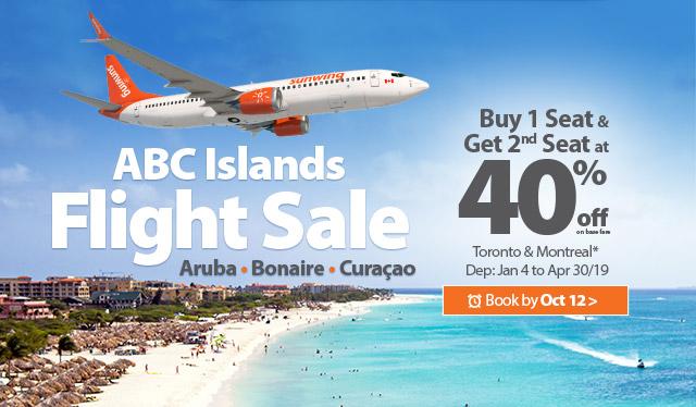 ABC Islands BOGO Seat Sale