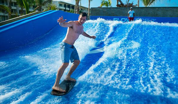 Man surfing on FlowRider