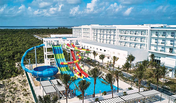 High-rise colourful water slides at Riu Dunamar