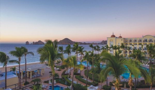 Sunset view of Los Cabos coast