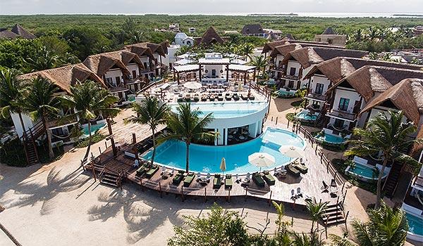Villas HM Palapas del Mar vu des airs