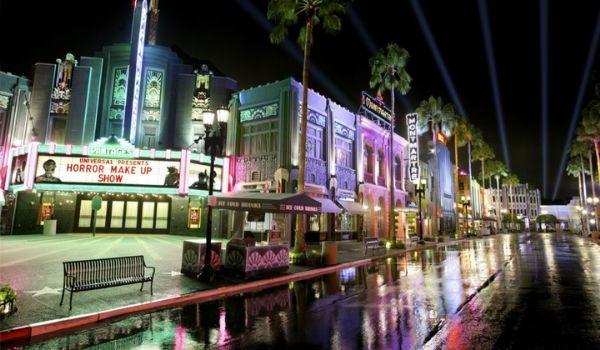 La Universal CityWalk en soirée
