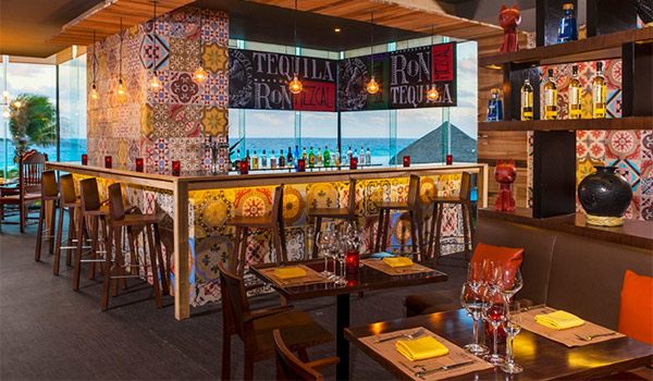 Restaurant interior inspired by Mexican culture