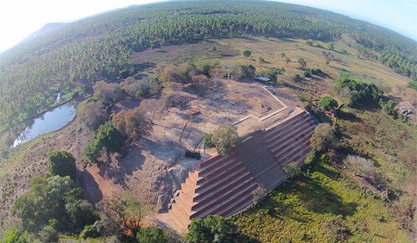 Site archéologique de Zihuacan vu des airs