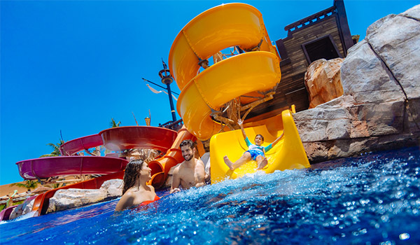 Family having fun at Barcelo's Pirates Island Water Park