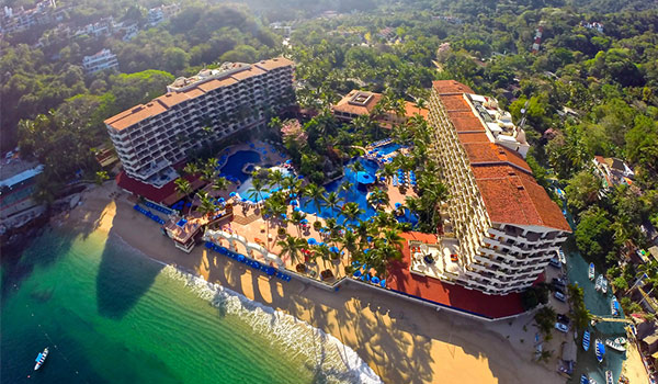 Aerial view of the stunning Barceló Puerto Vallarta