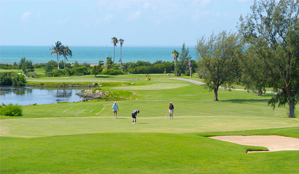 View of the beautiful greens at Varadero Golf Club
