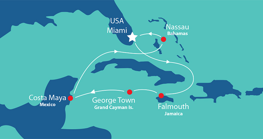 Itinerary - Western Caribbean 5