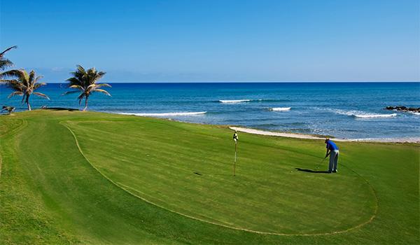 Picturesque golf course overlooking the ocean