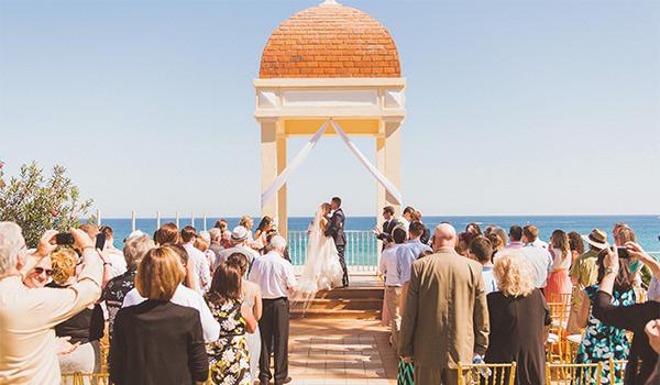 Wedding ceremony overlooking the ocean