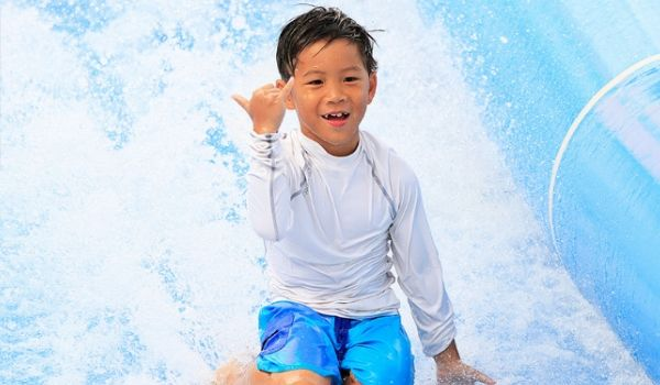 Young boy on FlowRider