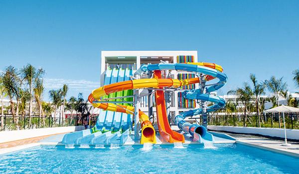 Water slides at Riu Republica