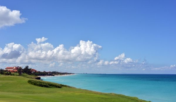 Pristine greens overlooking the ocean at Varadero Golf Club