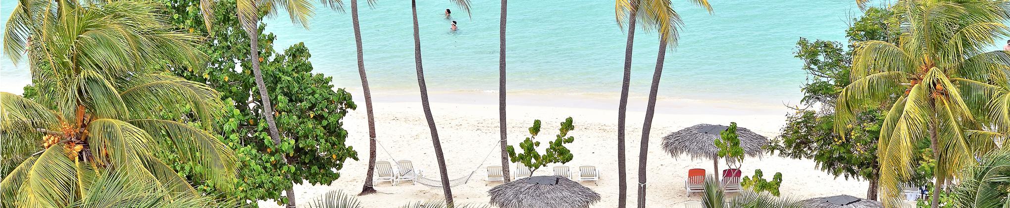 Paysages tropicaux à Holguín : eaux turquoise, sable blanc et forêts verdoyantes