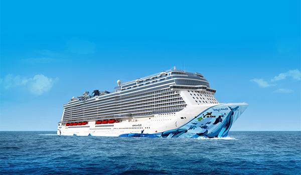 Norwegian Bliss cruise ship sailing the seas