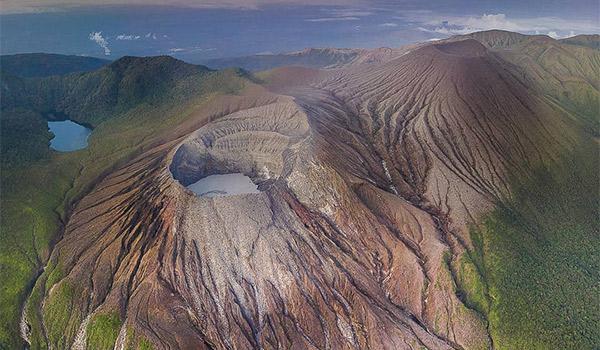 Aerial view of Rincon de la Vieja volcano