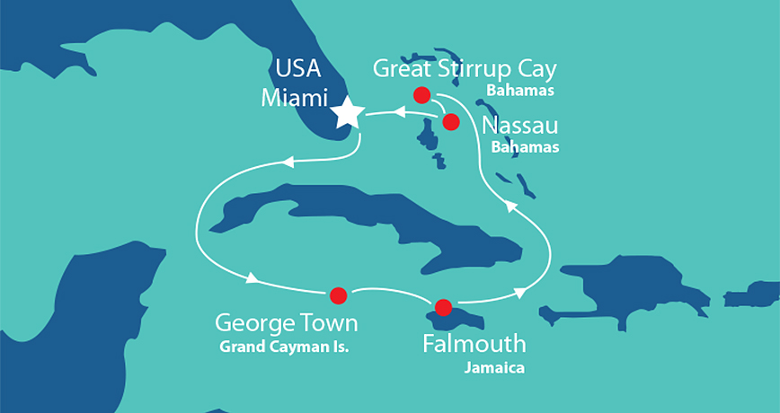 Itinerary - Western Caribbean 6
