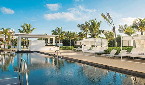 Pool and shady cabanas