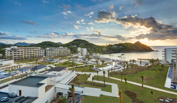 Aerial view of Hideaway at Royalton Saint Lucia and the Pitons