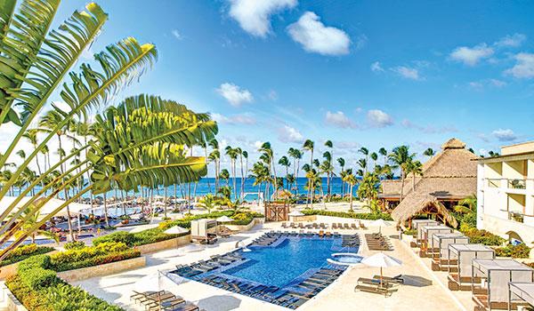 Resort pool overlooking the ocean