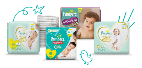Pampers Toddler Diapers and Wipes