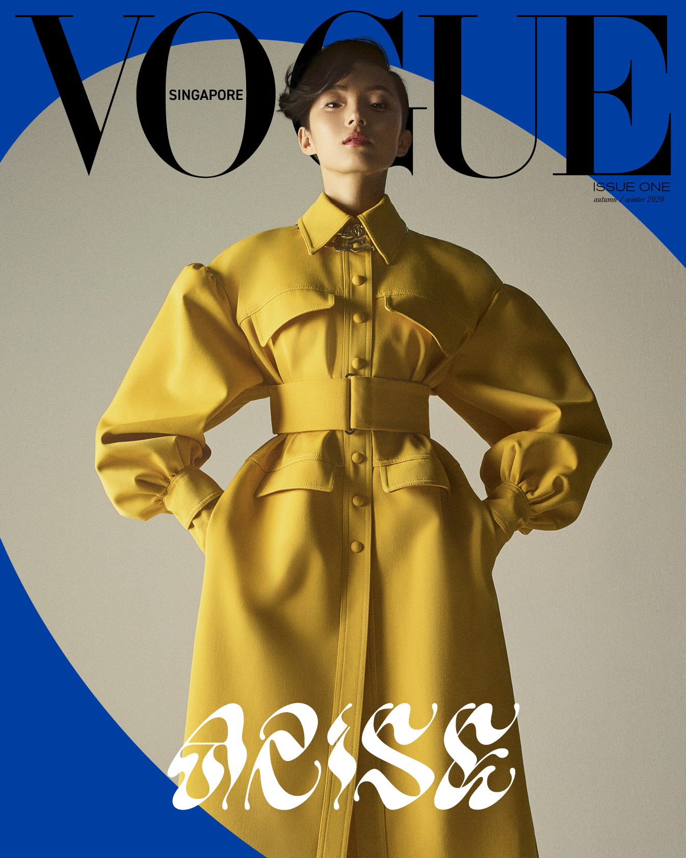 Chinese supermodel Jū Xiǎowén photographed for Vogue Singapore by Gregory Harris.