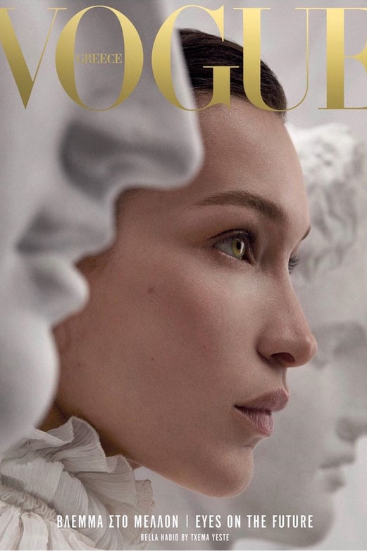 Vogue Greece's first cover featuring Bella Hadid
