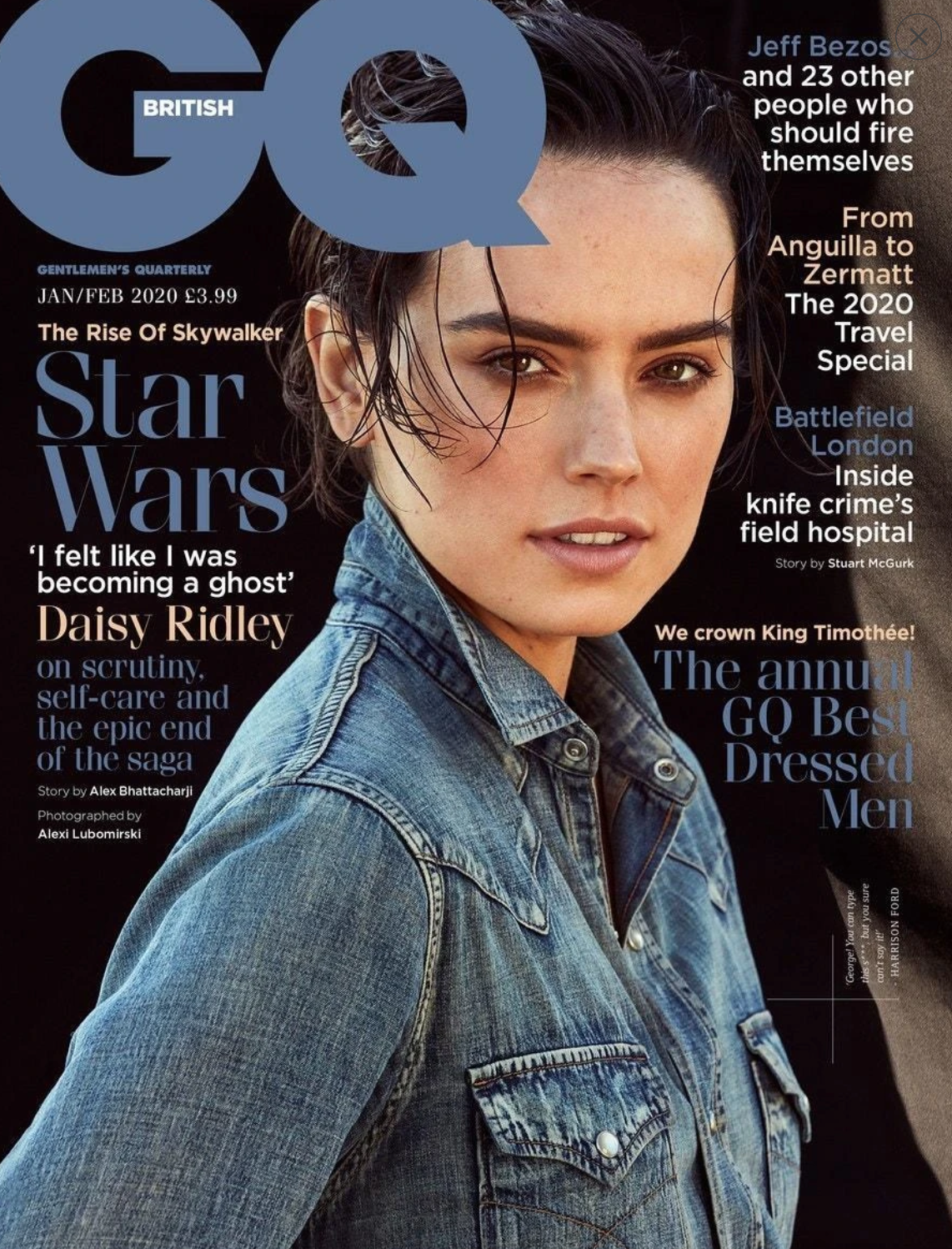 British GQ January 2020, Daisy Ridley