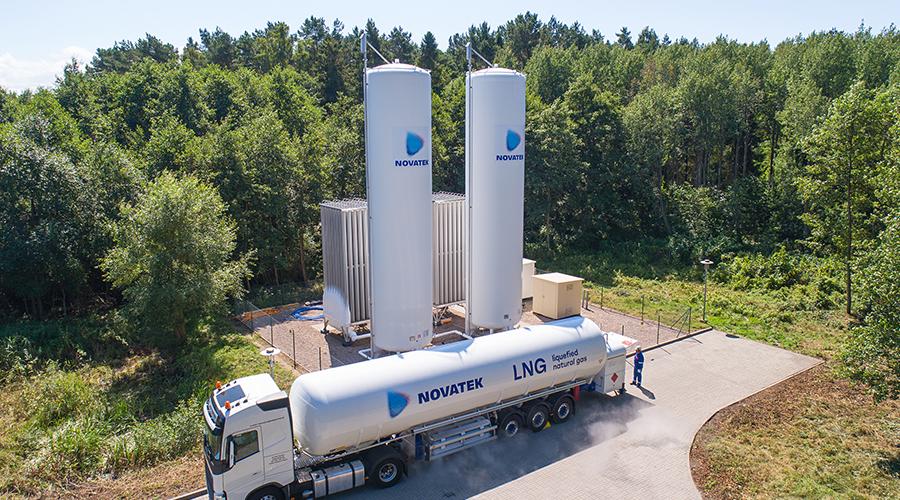 Dostawa gazu LNG do stacji regazyfikacji.