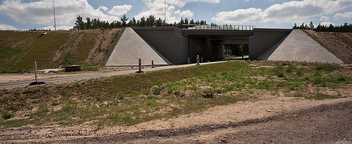 Autostrada A1 z nowym wiaduktem