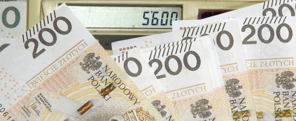 PHOTO: ZOFIA I MAREK BAZAK / EAST NEWS N/Z Pieniadze i kalkulator z kwota 5600 zl, tej wysokosci mandat skarbowy mozna otrzymac w 2021 roku