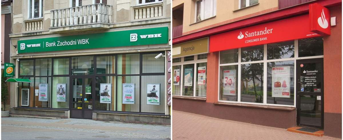 3 Maja 23 Sanok BZ WBK /  Santander Bank w Mońkach przy al. Niepodległości 4