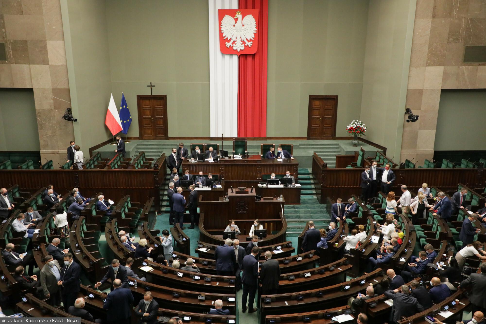Fot. Jakub Kaminski/East News, Warszawa, 07.07.2021. 34. posiedzenie Sejmu IX kadencji.