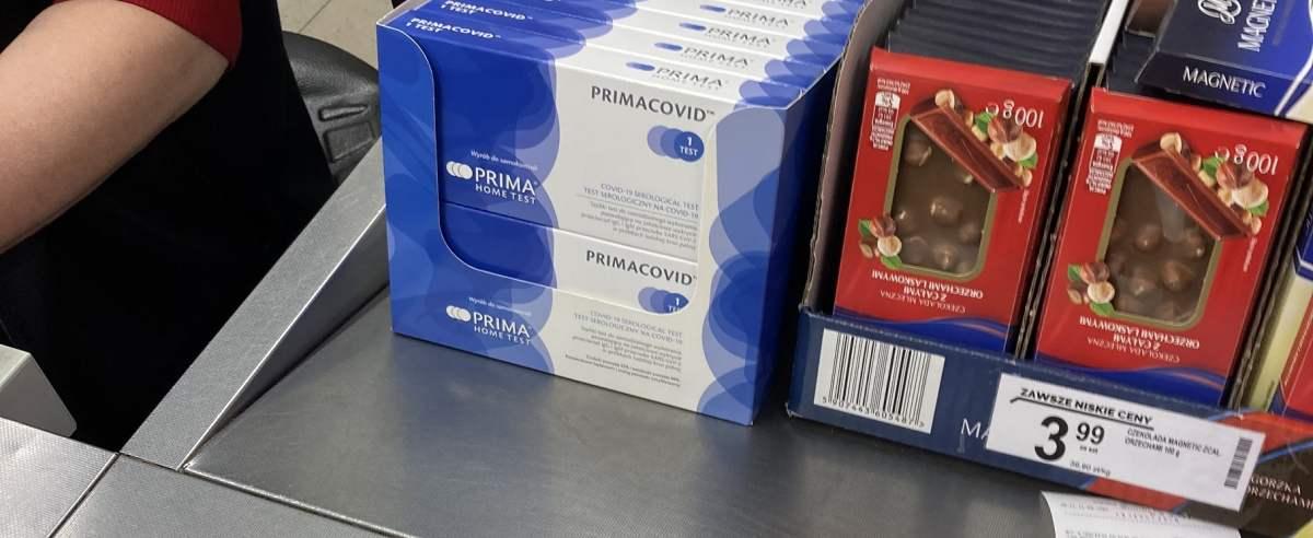 Testy na koronawirusa w dyskontach