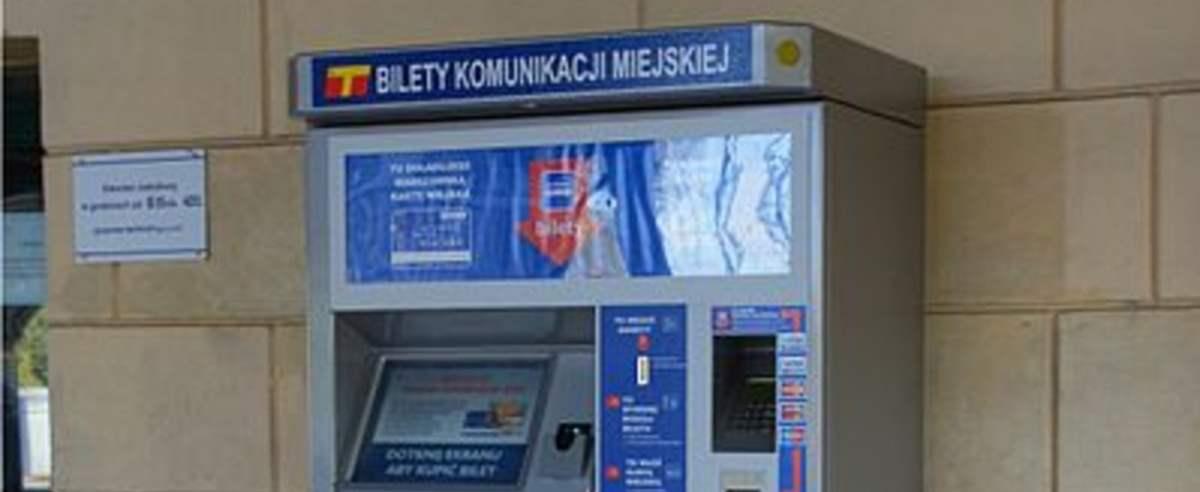 Automat biletowy ZTM na Stacji PKP w Otwocku