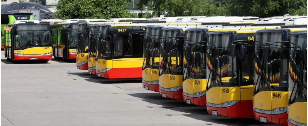 Fot. Jakub Kaminski/East News. Warszawa, 09.07.2020. Zajezdnia autobusowa Arriva Polska przy ul. Plochocinskiej.