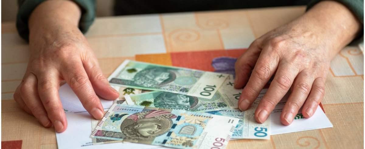 fot: Arkadiusz Ziolek/ East News. n/z Oszczednosci starszej osoby na emeryturze.