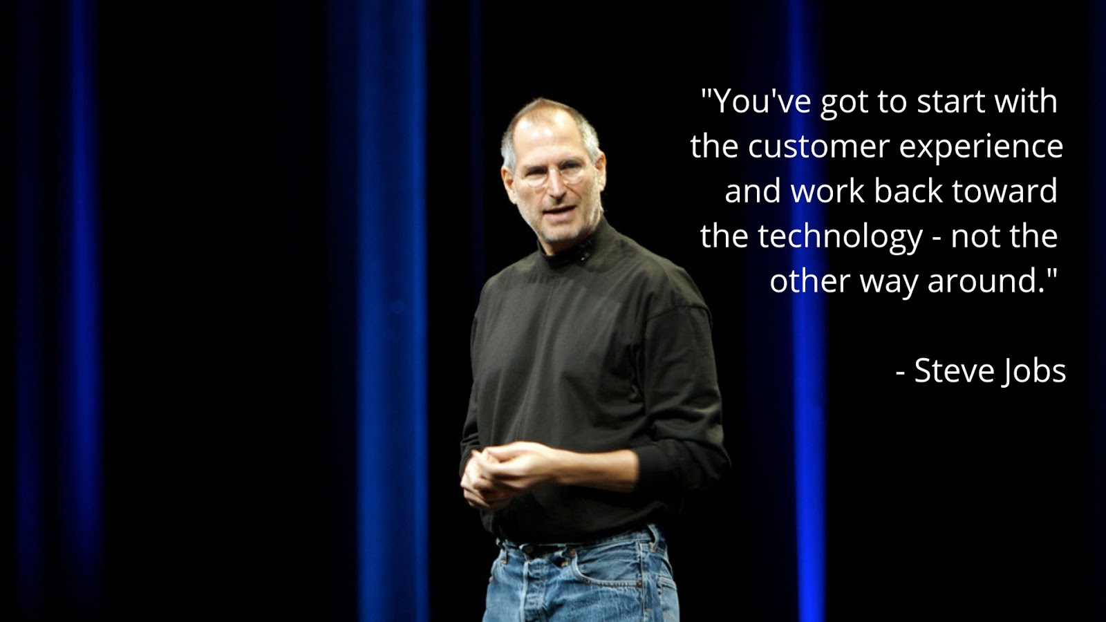 Steve Jobs customer experience research quote