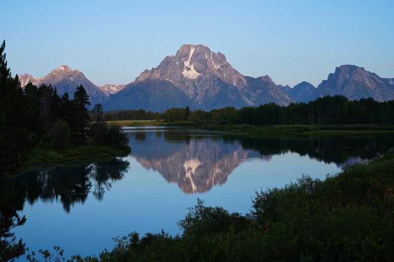 Reflection of the Tetons at Oxbow Bend