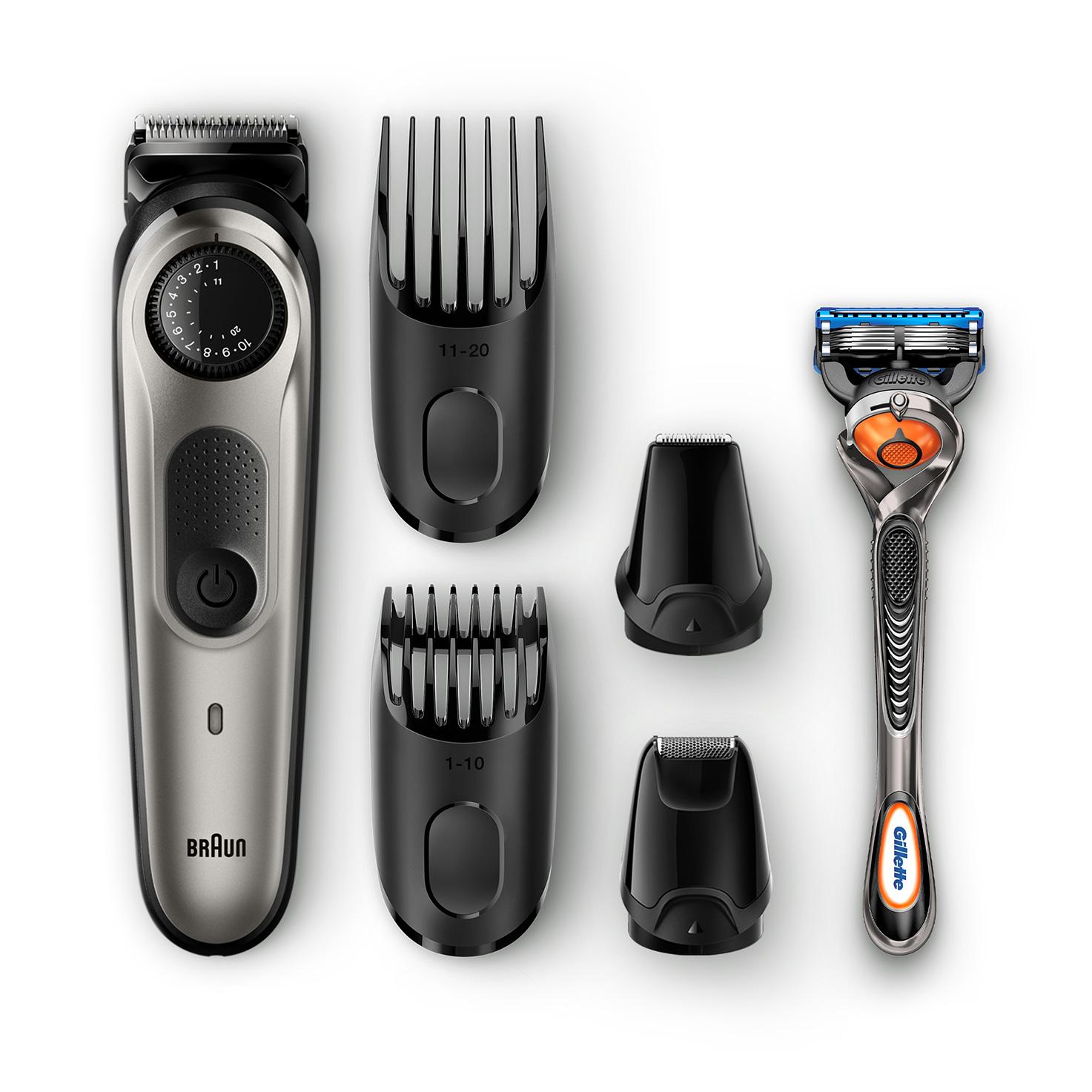 blackbl Braun Trimmer Barba per uomini con rasoio Gillette Fusion Proglide BT3040