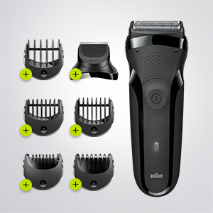 Beard trimmer with 5 combs