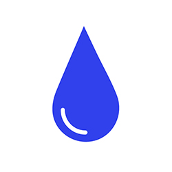 MISSION Statistic Water Icon 250x250