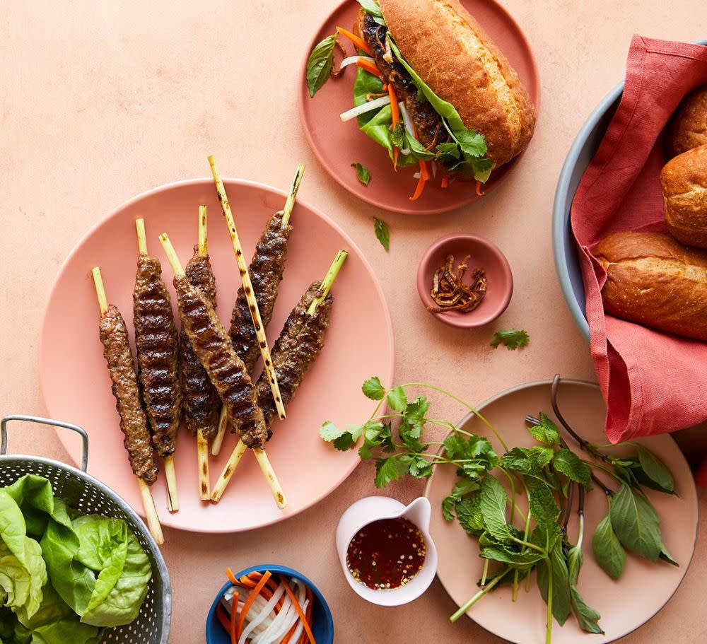Try this Impossible™ Lemongrass Skewers Recipe made with Impossible™ Burger.